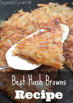 Hash Browns Here's the trick to the Best Hash Browns you will ever try! - Here's the trick to the Best Hash Browns you will ever try! Breakfast Items, Breakfast Dishes, Breakfast Recipes, Breakfast Casserole, Fall Breakfast, Breakfast Club, Best Hash Brown Recipe, Hash Brown Recipes, Hash Browns