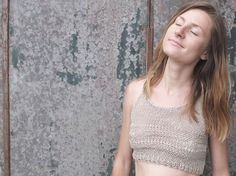 Cotton/Linen Crop Top Metta by KnitUsHandmade on Etsy