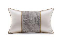 元熙壹品 现代/新中式样板房/沙发靠包/米白色拼抽象金咖色装饰枕