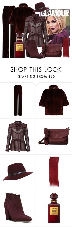 """Burgundy"" by colchico ❤ liked on Polyvore featuring Roberto Cavalli, Diane Von Furstenberg, Miss Selfridge, Frye, Gucci, Franco Sarto, Tom Ford and monochrome"