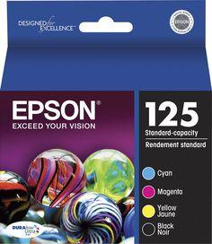 Epson - 125 4-Pack Ink Cartridges - Cyan/Magenta/Yellow/Black (Blue/Pink/Yellow/Black)