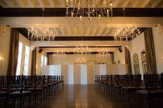 An Beautfiul Ceremony set in the Ballroom - Jules Ko Photography #aldencastle #weddings #modernvintage