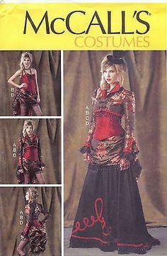 McCall's Pattern - M6911 - Misses' Bolero, Corset, Skirt and Overskirt #Steampunk #Victorian
