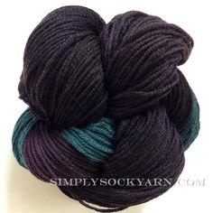Simply Socks Yarn Company features Alchemy Juniper Underwater Moon.