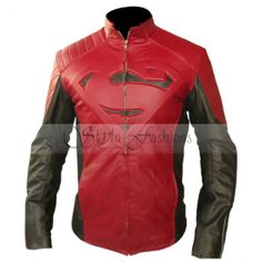 Man of steel Superman Black Red Leather jacket | Stylo FashionsStylo Fashions