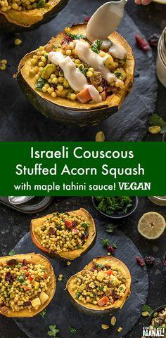 Vegan Acorn Squash Recipes, Vegan Couscous Recipes, Butternut Squash, Vegetarian Dinners, Vegan Vegetarian, Vegetarian Recipes, Healthy Recipes, Eating Vegan, Eating Healthy