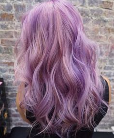 pastel purple and peach