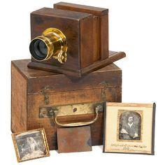Miniature Sliding Box Camera, c. 1845 Vintage Cameras, Antique Cameras, Old Cameras, Box Camera, Camera Lens, Camera Photography, Photography Tips, Vintage Photography, Photographic Film