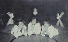 The 1964 cheerleader of Curlew high school in Curlew, Washington.  #1964 #cheerleaders #Curlew #yearbook