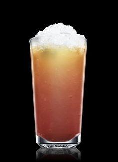 Raspberry Summer Punch: 4 parts absolut, 2 parts lemon/blackberry liqueur/raspberry purée, 1 part simple syrup, splash of champagne. Garnish with a blackberry. DAMN!
