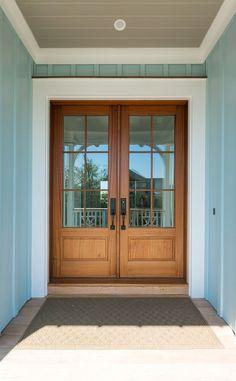 Mahshie Custom Homes (House of Turquoise) House Of Turquoise, The Doors, Entrance Doors, Wood Doors, Panel Doors, Barn Doors, Pella Doors, Front Door Design, Luxury Interior Design