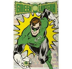 Green Lantern Poster Retro Comic. Hier bei www.closeup.de