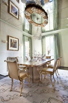Antique mirrored ceiling adds light and dimension Southern Distinctions