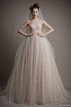 ersa atelier bridal 2015 cleo blush wedding dress tulle overskirt