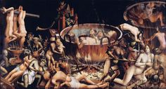 O Inferno. Autor Desconhecido, 1510-1520. Museu de Arte Antiga de Portugal. - Magia é coisa do diabo? Coisa do diabo? Bruxaria é coisa do diabo?
