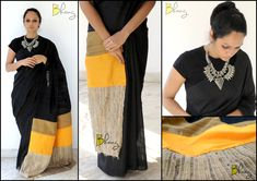 'Bhang' by Swathy - Meet Swathy, the founder and designer of her own fabulous… India Fashion, Ethnic Fashion, Women's Fashion, Indian Attire, Indian Wear, Indian Dresses, Indian Outfits, Indian Fabric, Elegant Saree