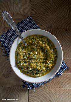 Zuppa di zucca, cavolo nero e quinoa