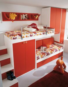 WOODEN TEENAGE BEDROOM WITH BRIDGE WARDROBE KIDS P1 KIDS COLLECTION BY FAER AMBIENTI BY GRUPPO LUBE   DESIGN VITTORIO LANCIANI
