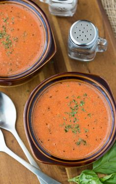 Comforting recipe for delicious homemade cream of tomato soup.
