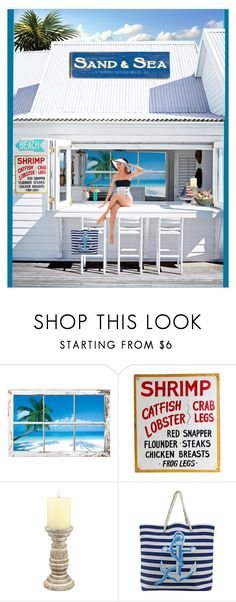 """""""Soak It Up"""" by electrix ❤ liked on Polyvore featuring Stonebriar Collection, TIKI, Shabby Chic and vintage"""