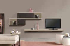 Modern Living Room Wall Units Ideas Storage Inspiration – Decorating Ideas - Home Decor Ideas and Tips Living Room Wall Units, Bookshelves In Living Room, Living Room Modern, Living Room Furniture, Living Room Decor, Bathroom Cabinets For Sale, Bathroom Ideas, Wall Unit Designs, Modern Wall Units