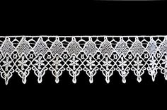 """Unotrim 1/"""" Ivory Rayon Rose Flower Venice Lace DIY sewing Crafts Trim By Yard"""