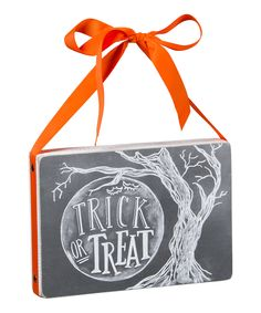 Primitives by Kathy Trick or Treat Chalk Sign | zulily
