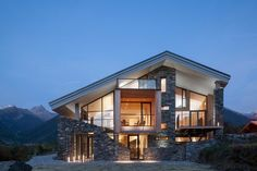 Chalet Mineral Lodge - rustic - exterior - other metro - Concrete by LCDA