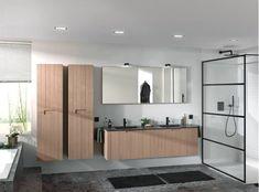 Ontdek hier de nieuwste trends van X²O voor 2019. #Habitos #X²O #badkamertrends2019 Double Vanity, Townhouse, Divider, Bathroom, Philippe, Furniture, Home Decor, Vacation, Design