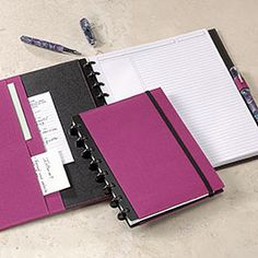 levenger circa notebook - totally customizable. appeals greatly to the crazy organizer in me