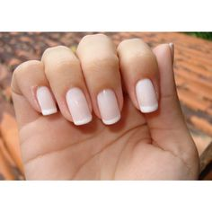 Como pintar unhas à francesa ❤ liked on Polyvore featuring beauty products, nail care, nails and unhas