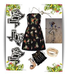 """""""Texan spring"""" by lolla-cher ❤ liked on Polyvore featuring Primitives By Kathy, Gianvito Rossi, Alice + Olivia, Miu Miu, Chanel and Valentino"""