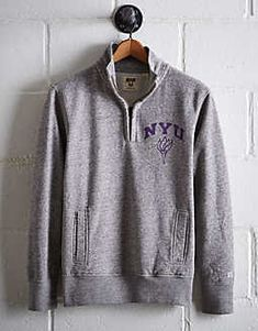 Tailgate Men s NYU Half-Zip Fleece Popover de3d52982