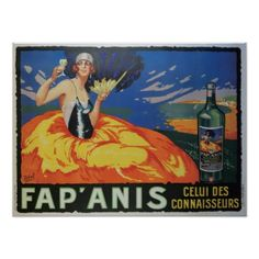 Vintage French Wine & Alcohol Advertisement Poster - vintage gifts retro ideas cyo