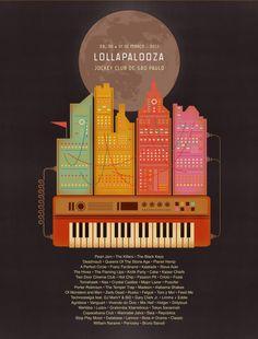 Lollapalooza De Marco 2013 // Poster by Balaclava Studio