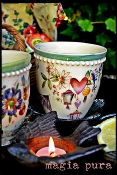 Dream Drawing, Polish Pottery, China Painting, Painted Pots, Pottery Mugs, Dinner Sets, Pottery Painting, Hand Painted Ceramics, Flower Pots