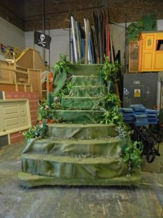 Peter Pan Set For Sale - News - National Operatic and Dramatic Association Cover the stairs to make them fit into the Neverland set.