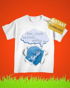 Tshirt Frozen characters olaf Iron on Transfer, frozen disney Iron on Shirt PDF, Baby Bodysuit Boutique Toddler Clothes, Kids Girls Clothing on Etsy, 2,50€