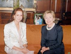 Lalla Salma Of Morocco and Mrs. Clinton