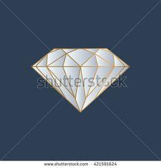 diamond logo vector - stock vector