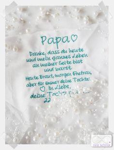 Besticktes Taschentuch Papa