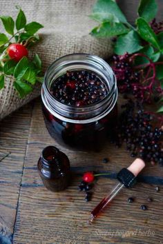 Made by macerating elderberries and rosehips in alcohol, this Elderberry tincture is made to boost your immune system and protect the body against cold and flu.