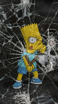 BART The Simpsons cracked iPhone Android wallpaper background Cartoon Wallpaper, Simpson Wallpaper Iphone, Tumblr Wallpaper, Cool Wallpaper, Mobile Wallpaper, Wallpaper Backgrounds, Wallpaper Samsung, Future Wallpaper, Apple Wallpaper