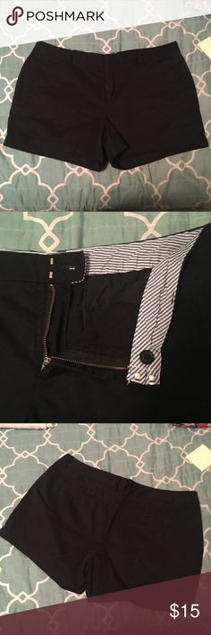 JCPenny Black Shorts Black shorts from JCPenny. JCP brand. Smoke free and pet free home. Worn twice. 13 inch length. 3 inch inseam. 38 inch waist. Size 14. jcpenney Shorts