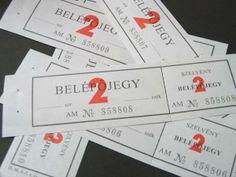 ticket こちらはベルギーの入場券です。 少しグレーががった紙に番号が印刷されており、ミシン目で切り離せるようになっています。  大きさ;約4×14,5センチ 5枚セット
