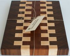 End Grain Cutting Board, Decorative Walnut and Maple Wood Cutting Board, Large Wooden Cutting Board, Butcher Block with Conditioning Oil