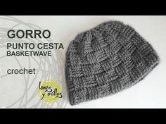 Gorro simple a crochet en punto alto (diferentes tallas) - YouTube