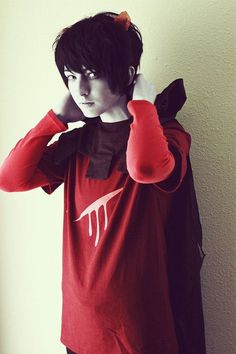 Karkat Cosplay. Don't know who he is but love the cosplay