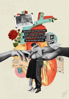 Graphic Design Illustration, Graphic Art, Collage Illustration, Collage Design, Collage Art, Valentine Poster, Gfx Design, Hansel Y Gretel, Arte Van Gogh