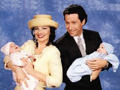 Charles Shaughnessy and Fran Drescher from The Nanny TV Show